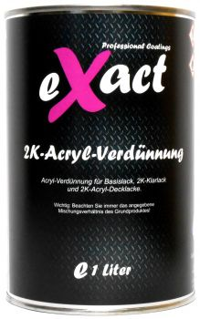 "eXact 2K-Verdünnung, ""normal"", für Basis- & 2K-Lacke, 1 Liter Dose"